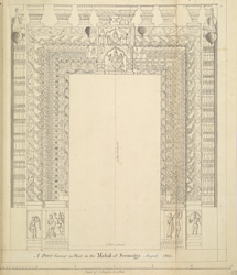 Carved wooden door in the palace at Shimoga. August 1805
